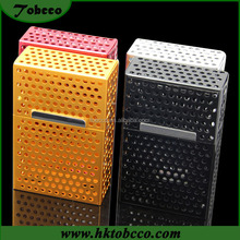 Automatic Magnetic Custom Cigarette Boxes Wholesale Mesh Hole Cigarette Case Aluminum
