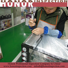 Electrical products microwave oven during production check