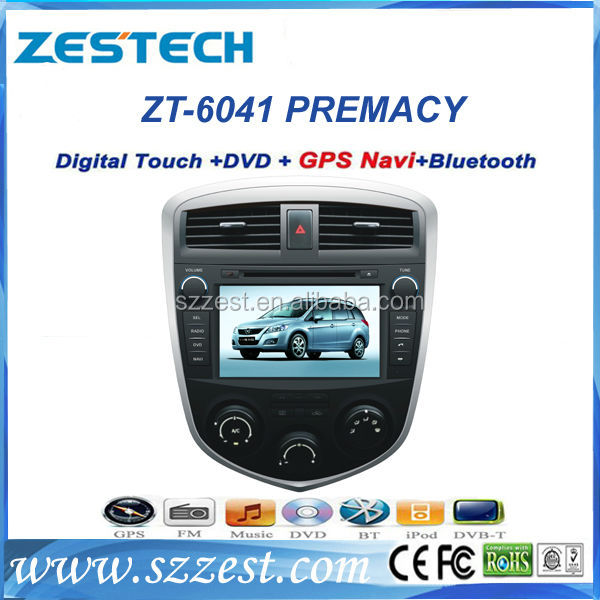 ZESTECH China Factory HD touch screen double din autoradio navigation head unit gps for MAZDA PREMACY