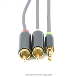 Big promotion cheap price 30AWG braid or spiral shielding gold plated High Quality 6FT Cable VGA RCA Cable