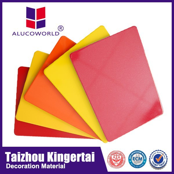 Alucoworld PE coating high glossy acm reflection aluminum composite panel acp anode material