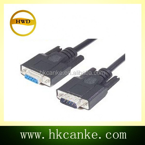RS232 serial db9 male to female cable