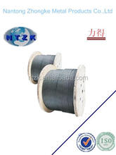 nantong factory steel wire rope 6X37+FC 18mm ungalvanized or galvanized steel wire rope for lifting