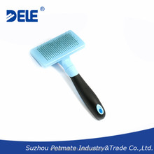 Pet products self-cleaning dog slicker brush, deshedding tool & pet grooming brush