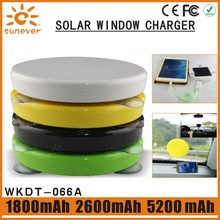 window solar panel power bank with LED
