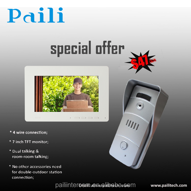 Video door phone system for 4 wires villa video door phone, 4-wire villa intercom system