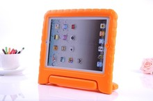 Factory price EVA Stand rubber Case with handle shockproof case cover for iPad 2 3 4 mini Air 5