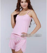 C11044C WHOLESALE HIGH QUALITY BAMBOO FIBER WOMEN'S HOT SLEEP SHORTS