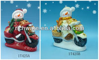 2013 New Snowman in motorcycle Christmas led lighting ornament