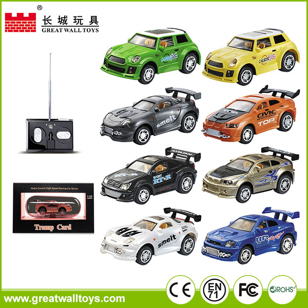 Mini RC tracking,high speed 1/52 scale plastic model car remote control racing toy
