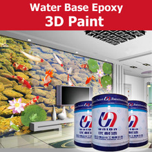 water based 3D epoxy paint primer and top coat for interior wall