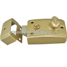 brass rust proof latch drawback lockset rim cylinder