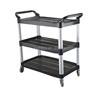 Hotel restaurant service cart food tea trolley plastic trolley