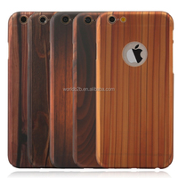 Wood pattern 360 degree full cover plastic phone case