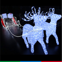 outdoor indoor led lighted running christmas reindeer lights