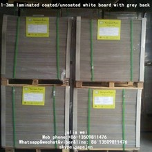 duplex boards/high quality one side grey one side white cardboard 550 gsm Brown back duplex board/white back copy paper gray