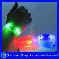 Super Quality Top Sell Red Led Flashing Bracelet