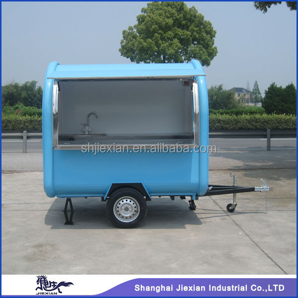 Mobile Fast Food Vending Machine JX-FR220B outside electric Trailer cars for sale Mobile Restaurant Trailer/hospital food carts