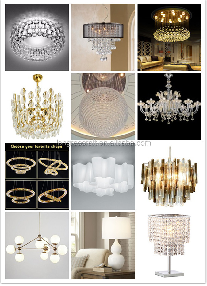 Modern Pure White Glass Handicraft Art LED Chandelier Lighting