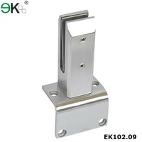 Stainless steel terrace mounting clamps spigot