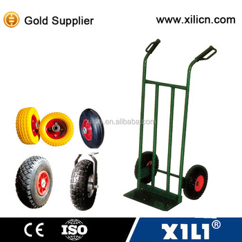 Multifunctional hand truck wheels air or solid or pu foamed.