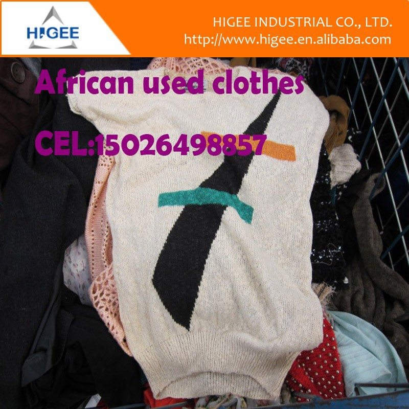 china 100% cotton used clothing