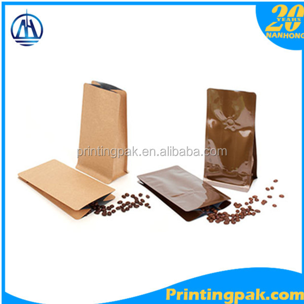 coffee brewer packaging bag /sige gusset coffee tin box