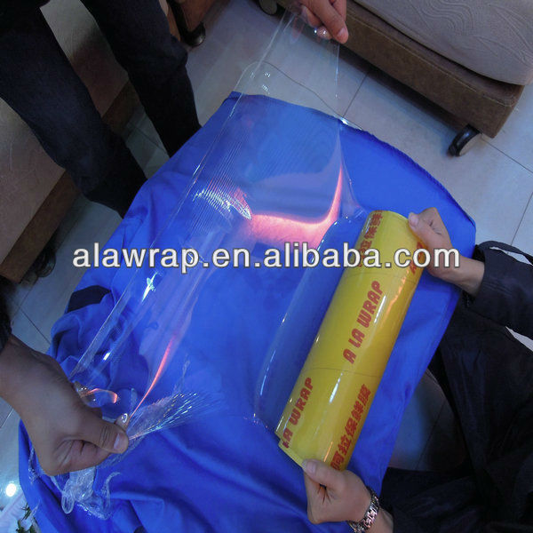 manufacturer sell: PVC cling film pvc wrap film plastic products for food and meat wrapping