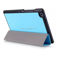 factory three fold share flip pu cover case for lenovo tab 2 a8-50 leather case