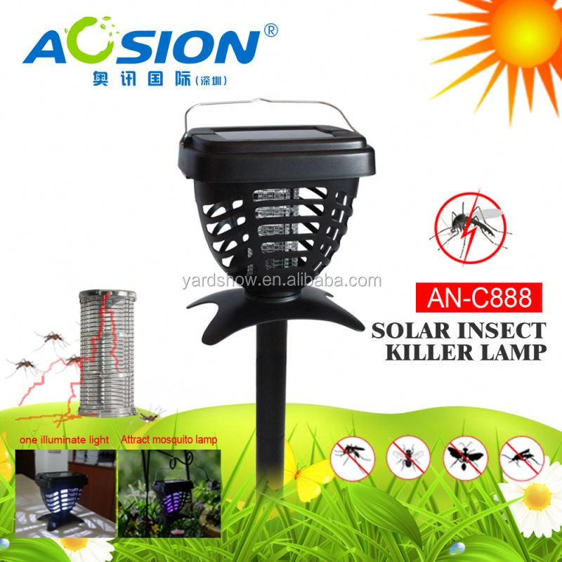 Aosion outdoor traval fashing using solar insect killer bug zapper AN-C888