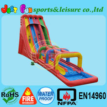 26'H triple lane inflatable water slide,commercial giant Inflatable Slide for hire