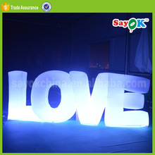 giant party stage decoration inflatable letter lighting love balloon with led light