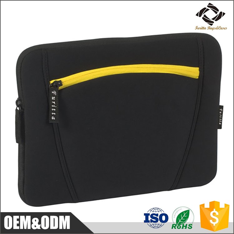 New black custom size 10'' 11.6'' 13.3'' 15.4'' inch neoprene laptop sleeve wholesale
