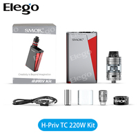 2016 Hot and New vape box mod kit Smok H-Priv 220W TC mod with sub ohm Micro CLP2 Micro STC2 coil Micro TFV4 tank