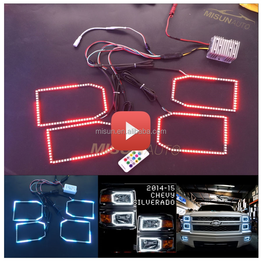 fast shipping factory supply high quality led angel eyes halo kits