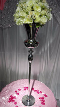 Tall silvery wedding pillar flower stand,vase centerpieces for aisle decoration