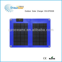 Folding solar panel 5W Guangzhou with good price foldable solar panel solar panelcharger high efficiency outdoor solar charger
