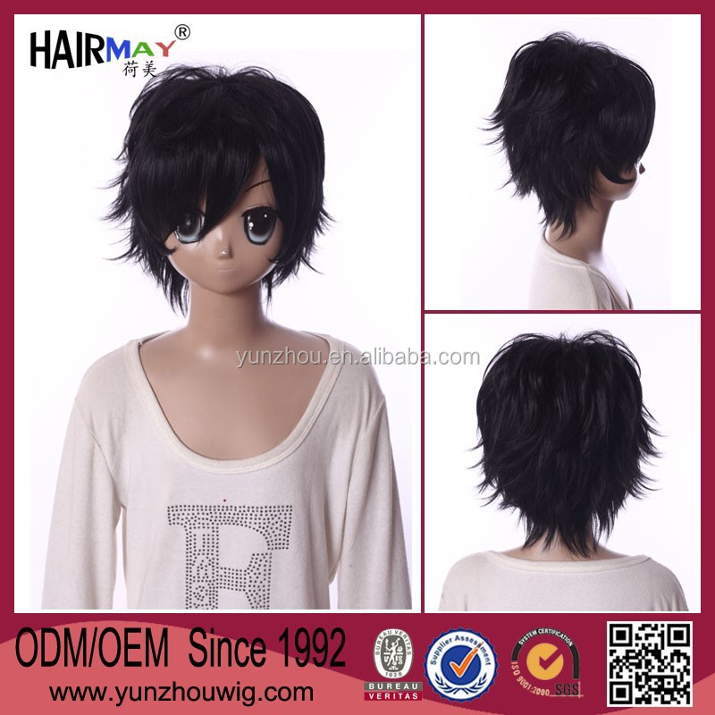 2015 New hair styles in stock Shin Megami Tensei Devil Survivor braided wigs for black men