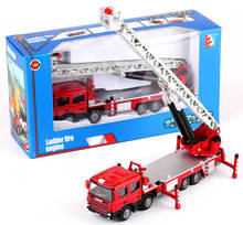 1:50 free wheels diecast metal fire engine with Fire ladder
