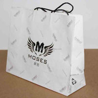 white kraft paper shopping bag with rope handle