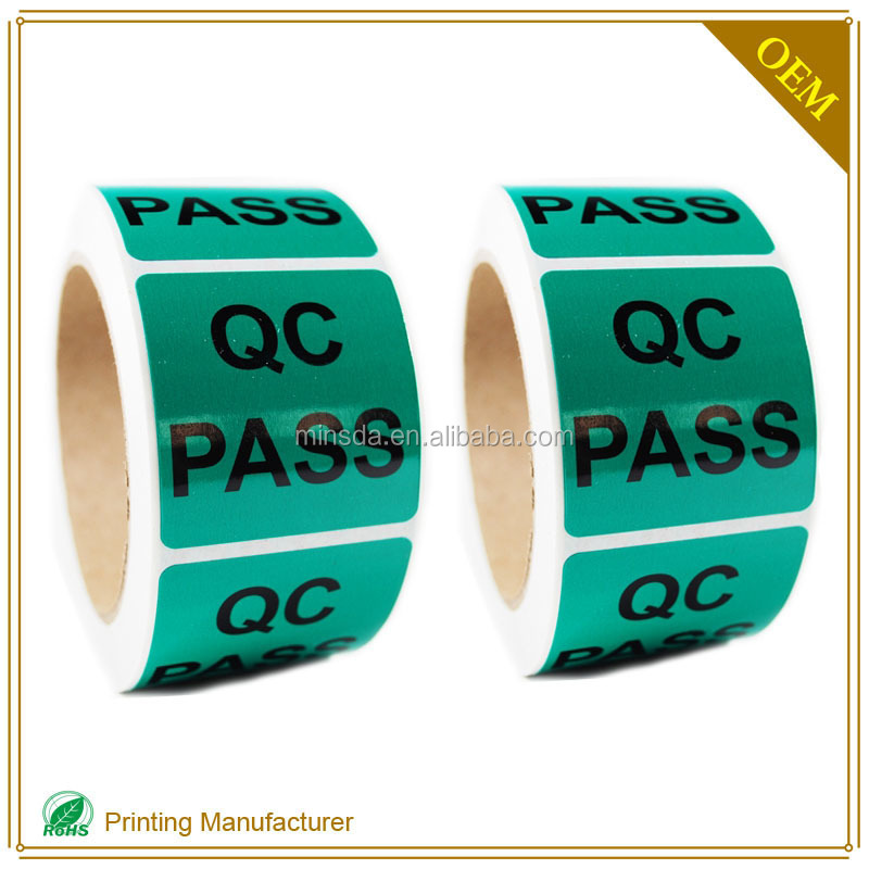 Customed QC Pass Easy Peel Off Labels Stickers In Labels Printing