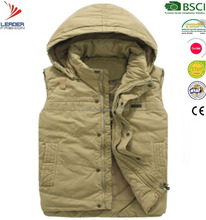 Men's 100% cotton fabric casual thickening padded vest out door Fishing vest