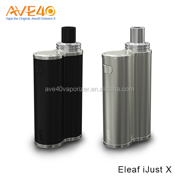New Eleaf iJust X Kit 50W 3000mah iJust X Battery, Silver Black Color Available Wholesale