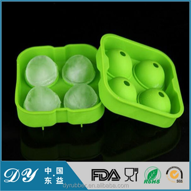 Best selling high quality LFGB grade custom ball shape silicone ice cube tray