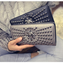 Top Fashion Skull Women PU Leather Wallet