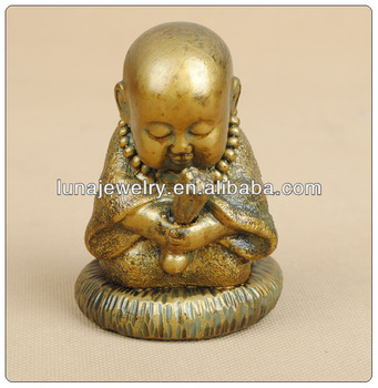 Small Monk ,Resin Monk Statue,baby buddha statue