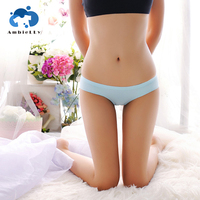 Amazon Hot Sale Mature Seamless Comfortable Underwear Pure Color Cotton Very Cheap Panties