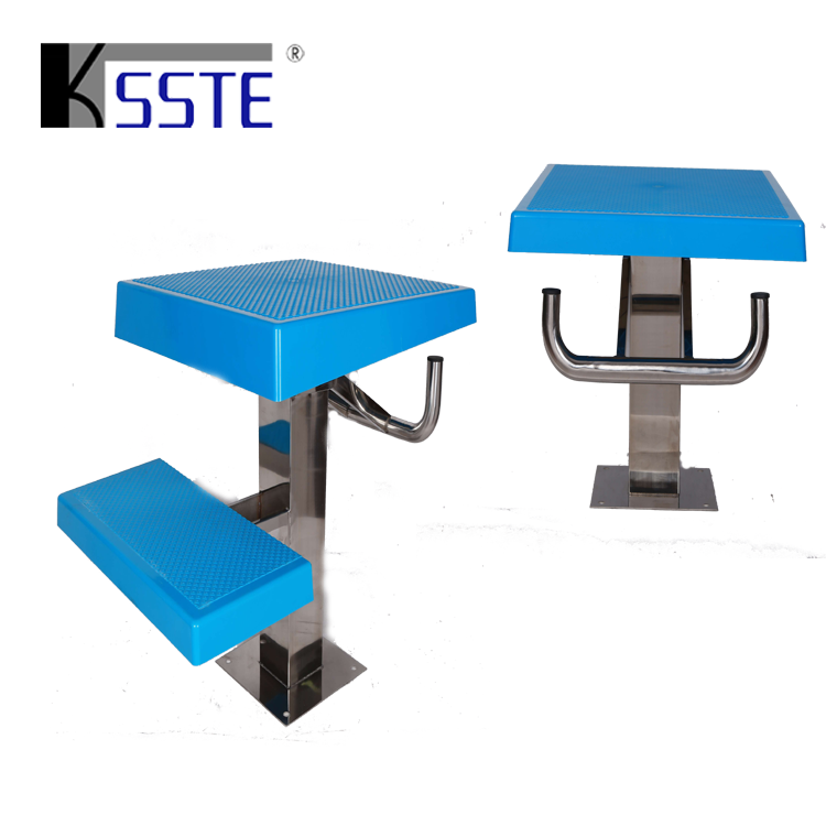Competition high quality 2 steps stainless steel starting blocks used for swimming pool