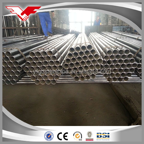 Black iron 1.5 schedule 40 mild steel round pipe price