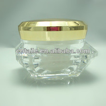 Import empty cosmetic plastic face cream acrylic bottle jars